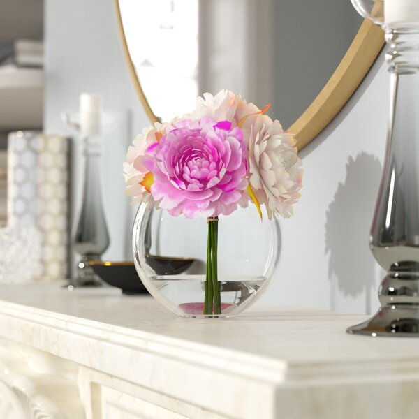 Peony Arrangement in Glass Vase by Willa Arlo Interiors