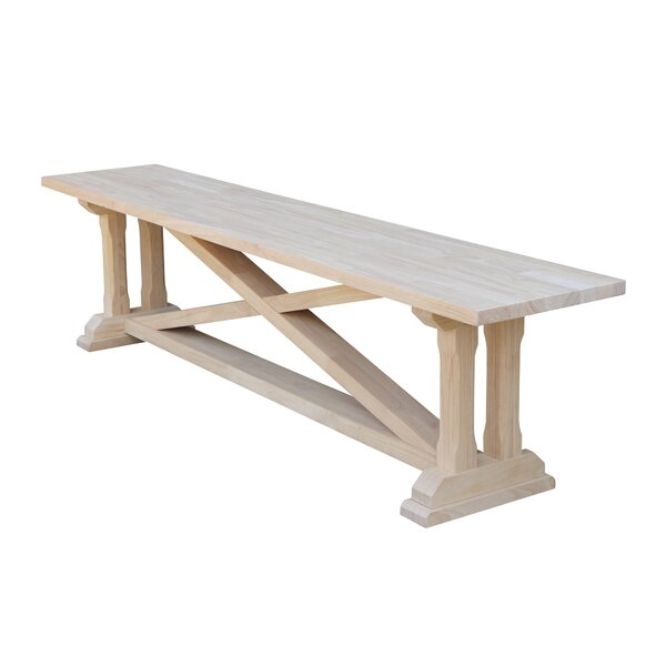 Rothsay Wood Bench by August Grove