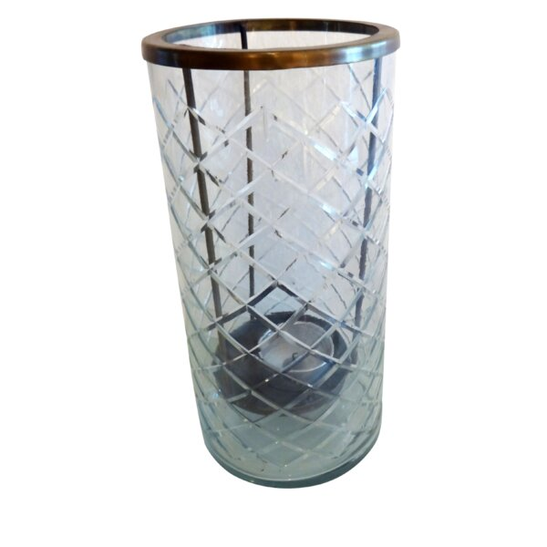 Etched Glass Hurricane by BIDKhome