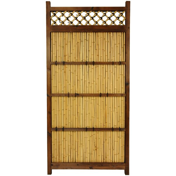 6 ft. H x 3 ft. W Japanese Zen Garden Fence Panel by Oriental Furniture