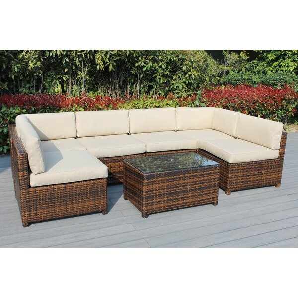 Fernando 7 Piece Sectional Seating Group with Cushions by Bayou Breeze