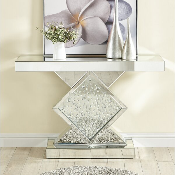 Larock Crystal Console Table by Rosdorf Park