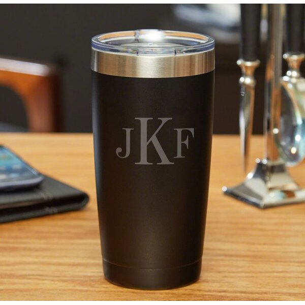 Kaler Classic Monogram 20 oz. Stainless Steel Travel Tumbler by Winston Porter