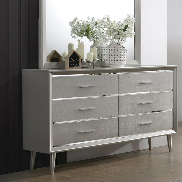 Windle 6 Drawer Double Dresser by House of Hampton