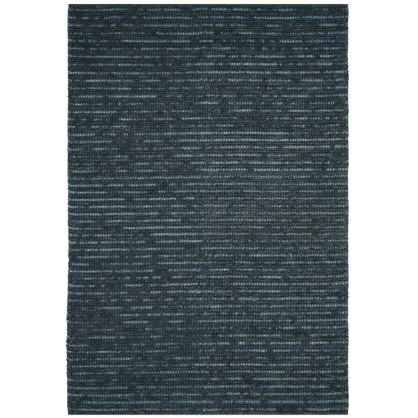 Makhi Hand-Knotted Dark Blue Area Rug by Mistana