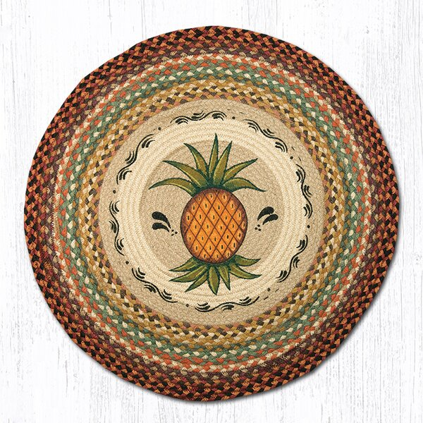 Pineapple Printed Area Rug by Earth Rugs