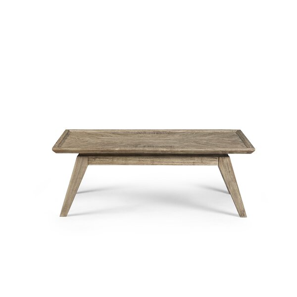 Coleman Coffee Table with Tray Top by Union Rustic
