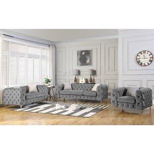 Demi 3 Piece Living Room Set by Rosdorf Park