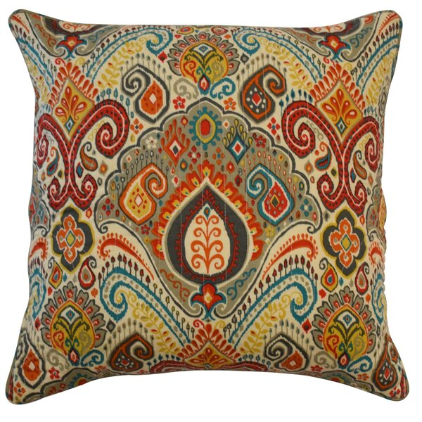 Boho Passage Damask Cotton Throw Pillow by Waverly