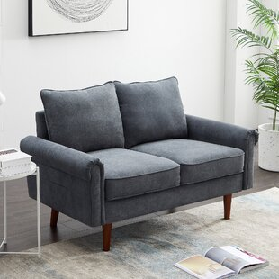52.76 Round Arm Loveseat with Reversible Cushions by Red Barrel Studio®