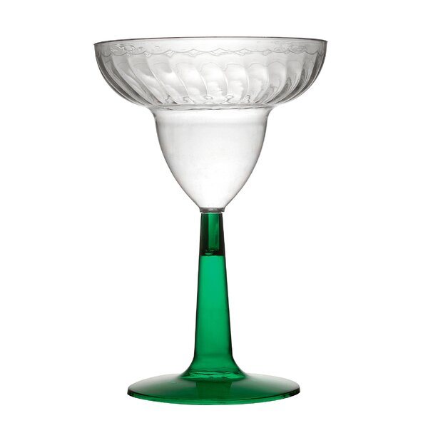 Flairware Stem Rippled Disposable 12 oz. Plastic Margarita Glass (96/Case) by Fineline Settings, Inc