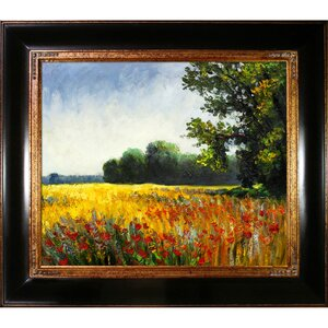 Oat Fields by Claude Monet Framed Painting Print by Tori Home