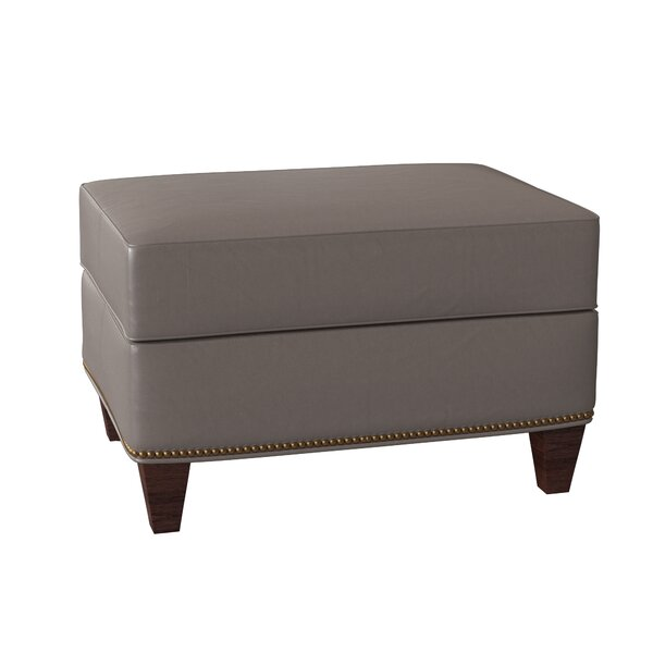 Reinsman Leather Ottoman By Bradington-Young