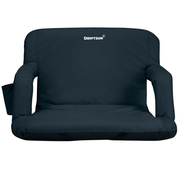 Extra Wide Deluxe Reclining Stadium Seat With Cushion by Driftsun Driftsun