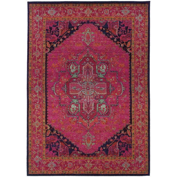 Terrell Updated Traditional Pink Area Rug by Bungalow Rose