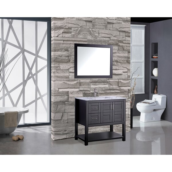Riney 36 Single Bathroom Vanity Set with Mirror by Mercer41
