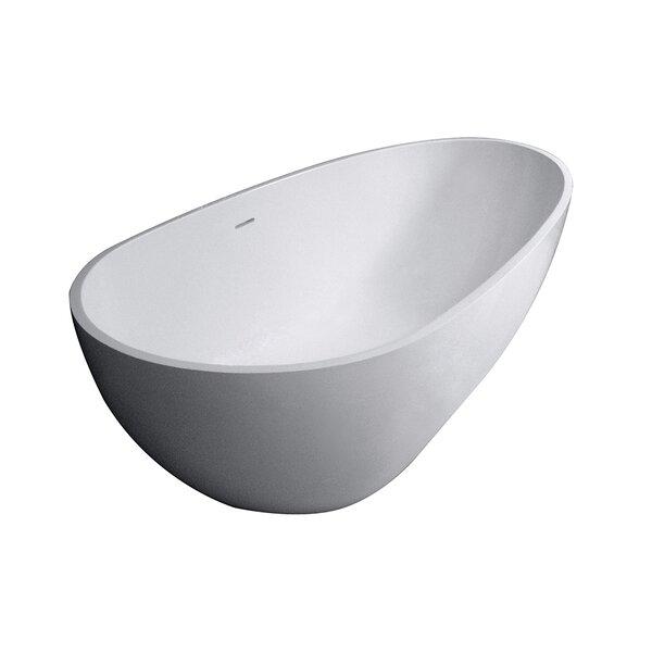 Aqua Eden Sophia Solid Surface 67 x 34.25 Freestanding Soaking Bathtub by Kingston Brass