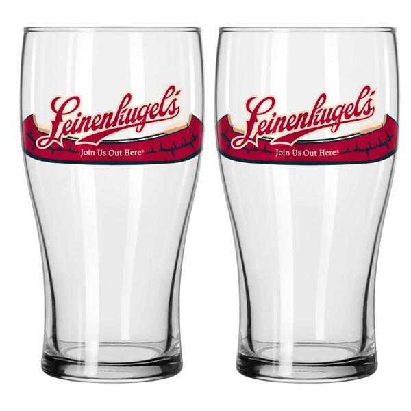 Leinenkugel 11 16 Oz. Glass Pint Glasses (Set of 2) by Boelter Brands