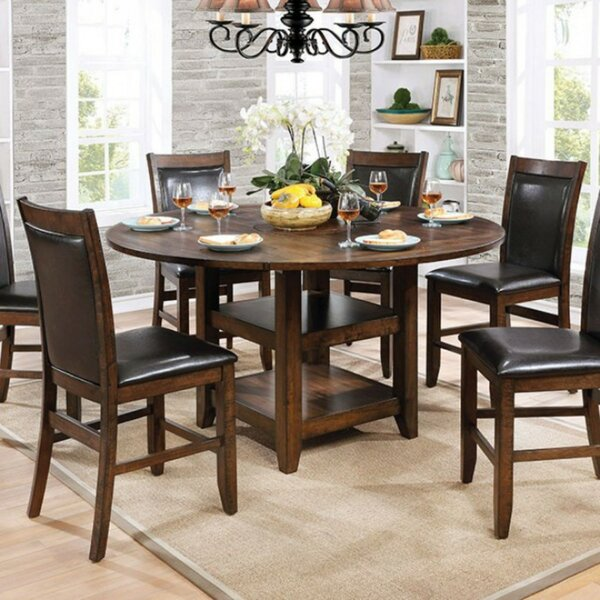 Fells Wooden Round Counter Height Dining Table by Darby Home Co