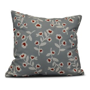 Valentines Floral Indoor/Outdoor Throw Pillow