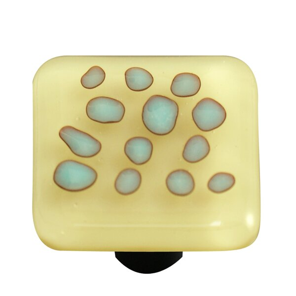 Reactive Square Knob by Aquila Art Glass