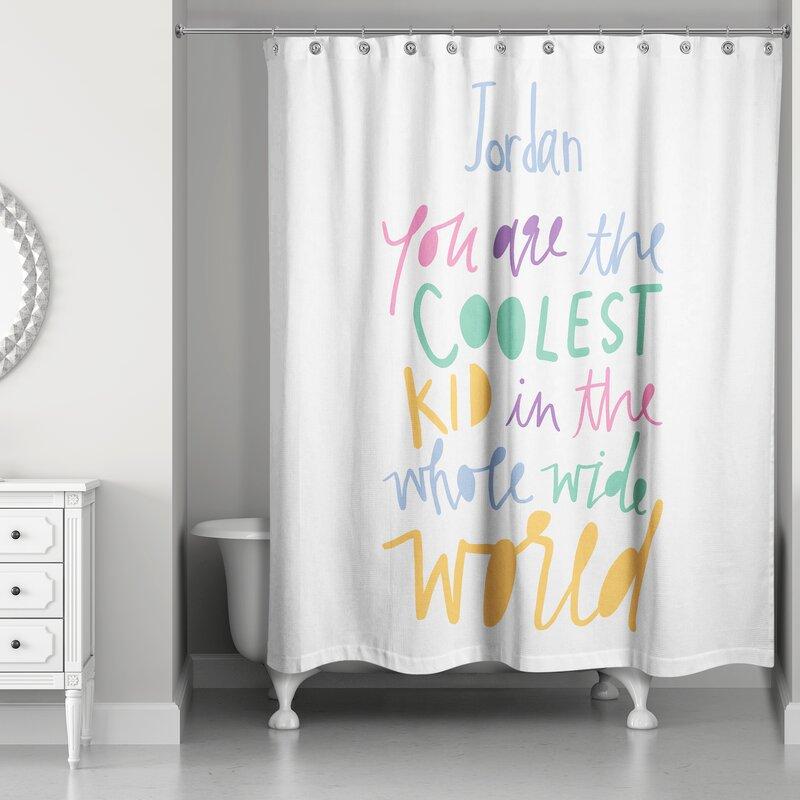 Harriet Bee Drachten Coolest Kid Shower Curtain | Wayfair