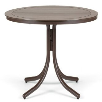 Marine Grade Polymer 42 Round Bar Table by Telescope Casual