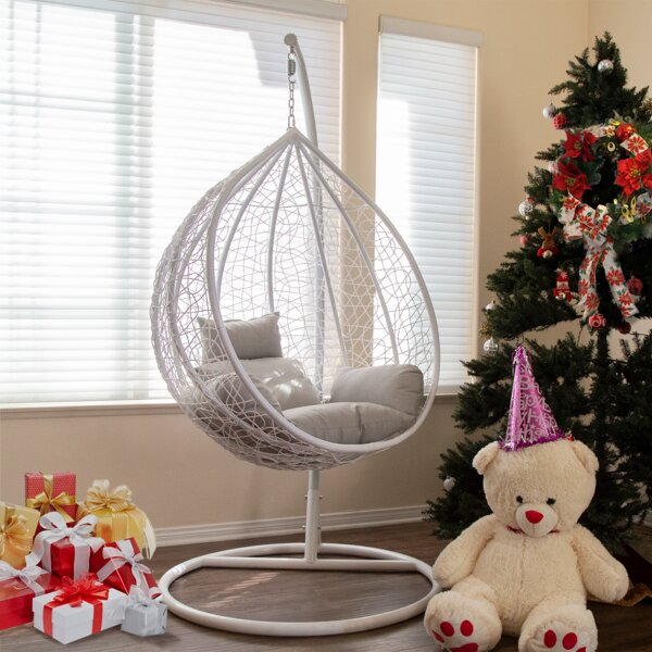 Shriner Teardrop Swing Chair with Stand by Bungalow Rose