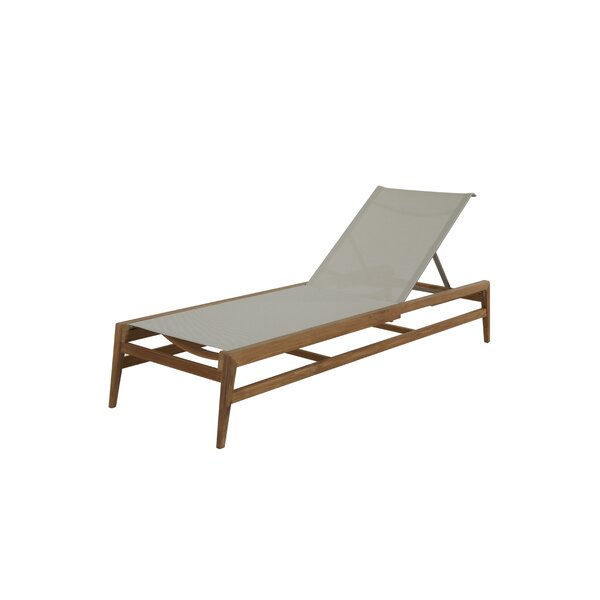 Coast Reclining Teak Chaise Lounge by Summer Classics