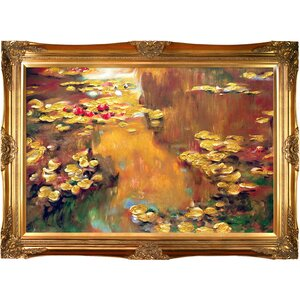 'Water Lilies' by Claude Monet Framed Painting Print on Wrapped Canvas by Fleur De Lis Living