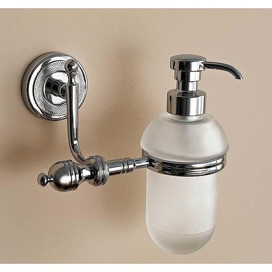 Queen Classic Wall Mounted Round Glass Soap Dispenser by Toscanaluce by Nameeks