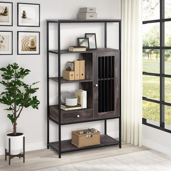 Demby 61'' H X 31.4'' W Metal Standard Bookcase By 17 Stories