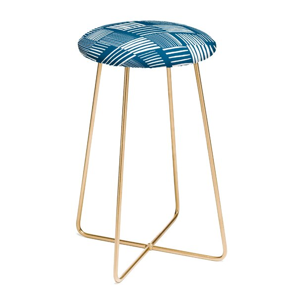 The Old Art Studio Torn Lines Abstract Co Farm Life 25 Bar Stool by East Urban Home