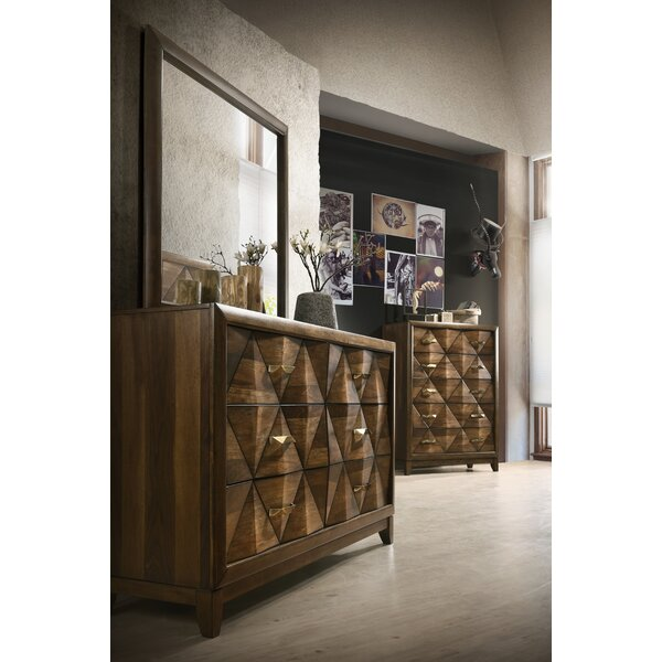 Haider 6 Drawer Double Dresser with Mirror by Brayden Studio