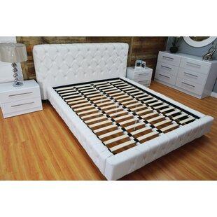 Haskett Button Tufted Upholstered Platform Bed by Brayden Studio
