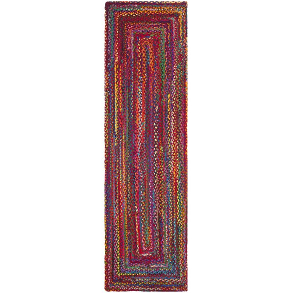North Reading Hand-Woven Red/Orange Area Rug by Bungalow Rose