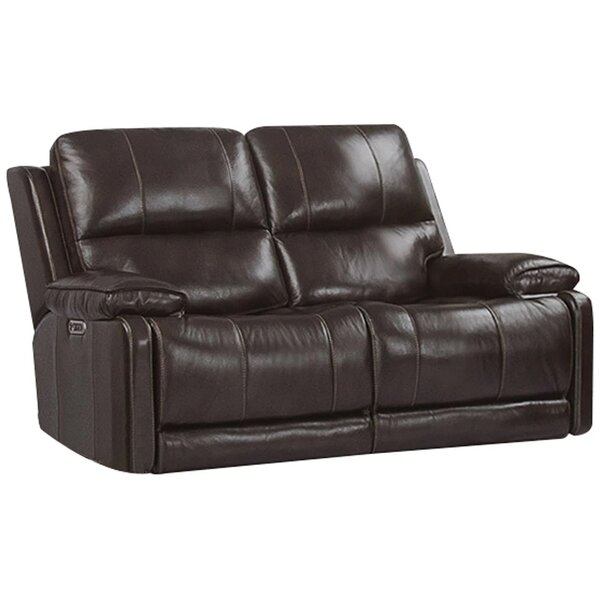 Review Grantville Leather Reclining Loveseat