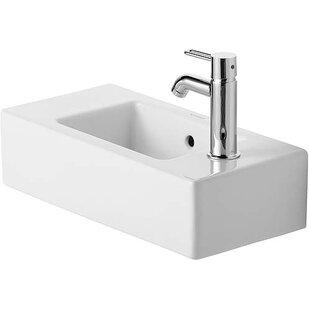Compare prices Vero Ceramic Rectangular Vessel Bathroom Sink with Overflow By Duravit