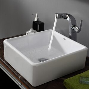 bathroom vessel sinks. Ceramic Square Vessel Bathroom Sink Sinks You ll Love