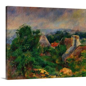 'La Roche Guyon, 1885-1886' by Pierre-Auguste Renoir Painting Print on Wrapped Canvas by Great Big Canvas