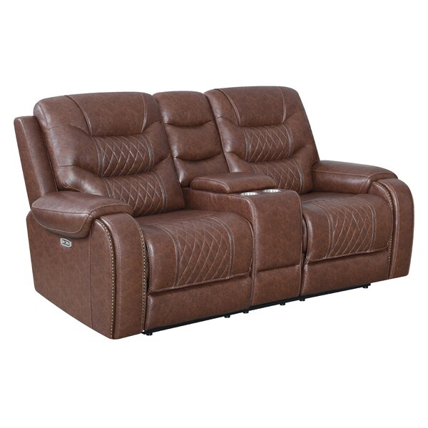 Reclining 78'' Pillow Top Arm Loveseat By Klaussner Furniture