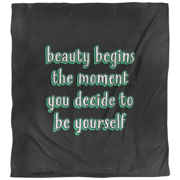 True Beauty Quote Single Duvet Cover