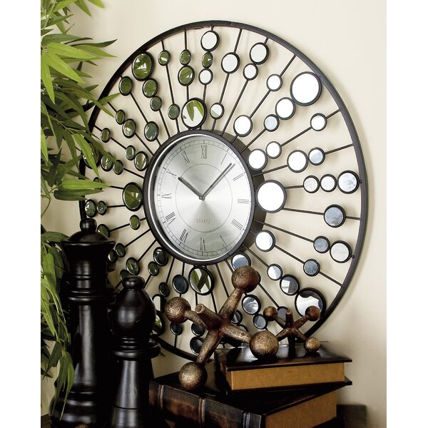 26 Metal and Mirror Wall Clock by Cole & Grey