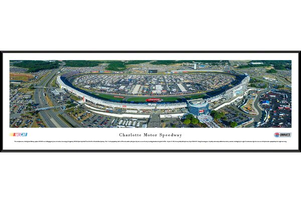 NASCAR Charlotte Motor Speedway by James Blakeway Framed Photographic Print by Blakeway Worldwide Panoramas, Inc