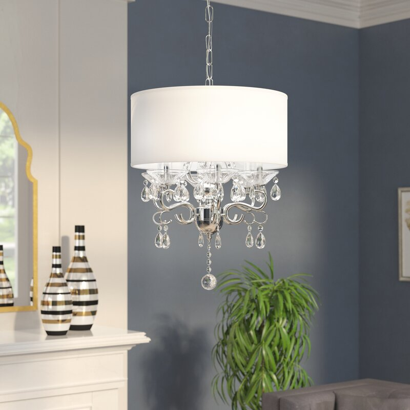 Light Candle Style Drum Pendant With