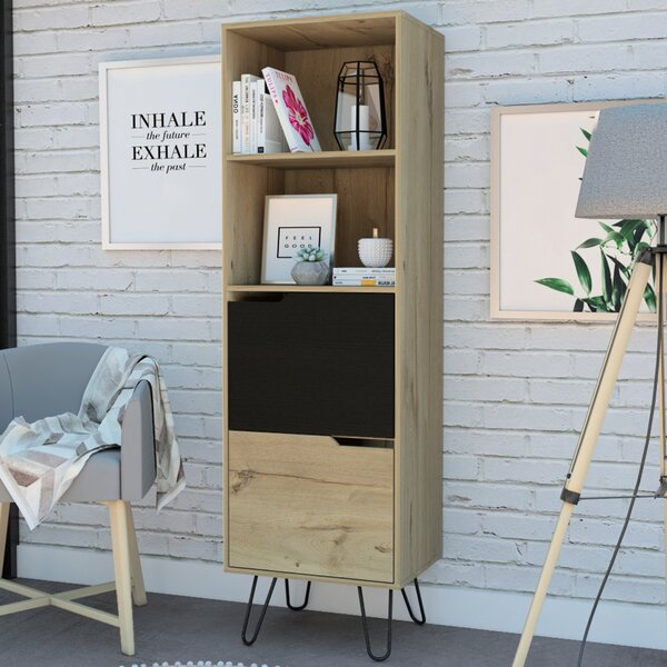 Mylah Slim Standard Bookcase By Union Rustic