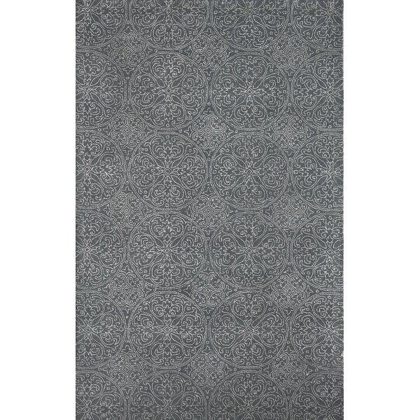 Pigg Steel Gray Area Rug by Bloomsbury Market