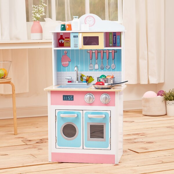 My Little Chef Pastel Small Play Kitchen by Teamson Kids