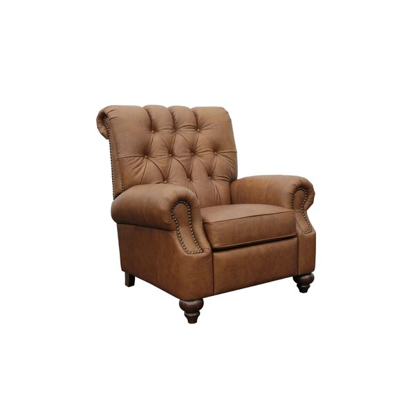 Marist Leather Manual Recliner By Canora Grey