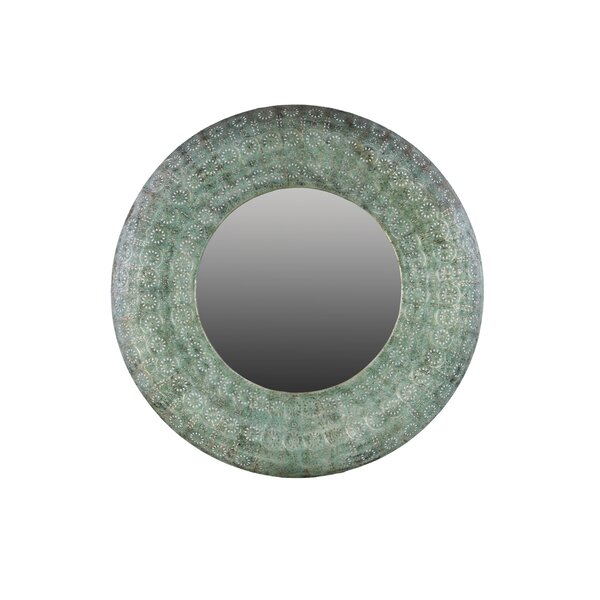 Metal Round Accent Wall Mirror by Urban Trends